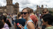 turistas en carnaval