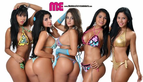 Cinco Bellezas Colombianas Mas Seys Del Momento Las Cali Treme Girls