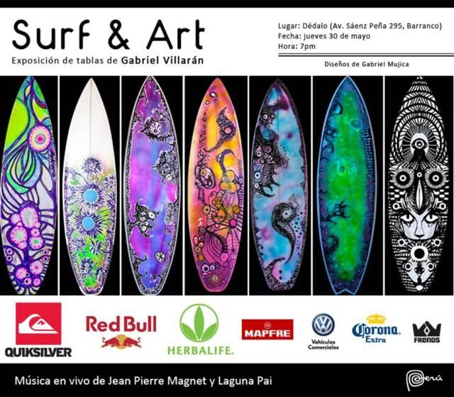 Surf art exposici n de tablas de gabriel villar n - Disenos de tablas de surf ...