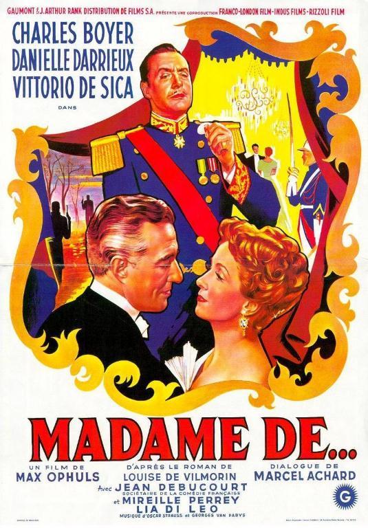 """Madame De…"""" de Max Ophüls"""