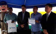 Adolfo Sánchez Grte. Regional Sustentabilidad EXSA-Gustavo Gomez G.G. EXSA-Benji Rosales -José Arakaki Alcalde Lurín