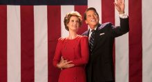 Cynthia Nixon (as Nancy Reagan) and Tim Matheson (as Ronald Reagan) in Killing Reagan. (Photo Credit: National Geographic Channels/ Hopper Stone, SMPSP)