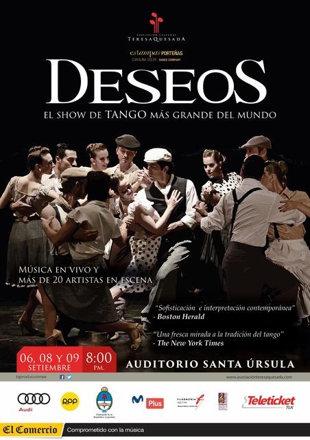 Deseos espectacular show de tango llega a lima Noticias de espectaculos argentina
